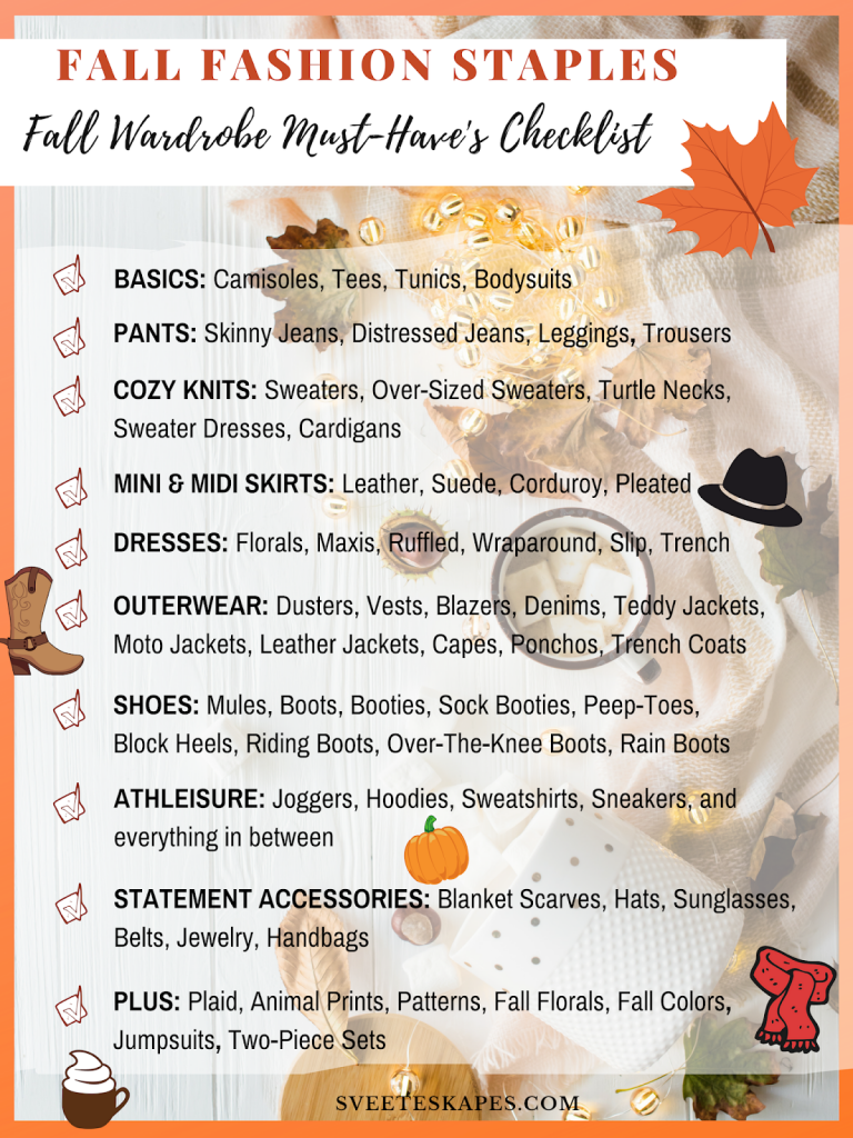 DOWNLOAD THE ULTIMATE FALL FASHION STAPLES CHECKLIST HERE