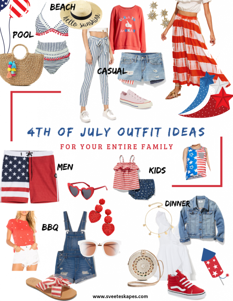 4th of July Outfit Ideas featured by top US Fashion, Travel & Lifestyle blog, Sveeteskapes