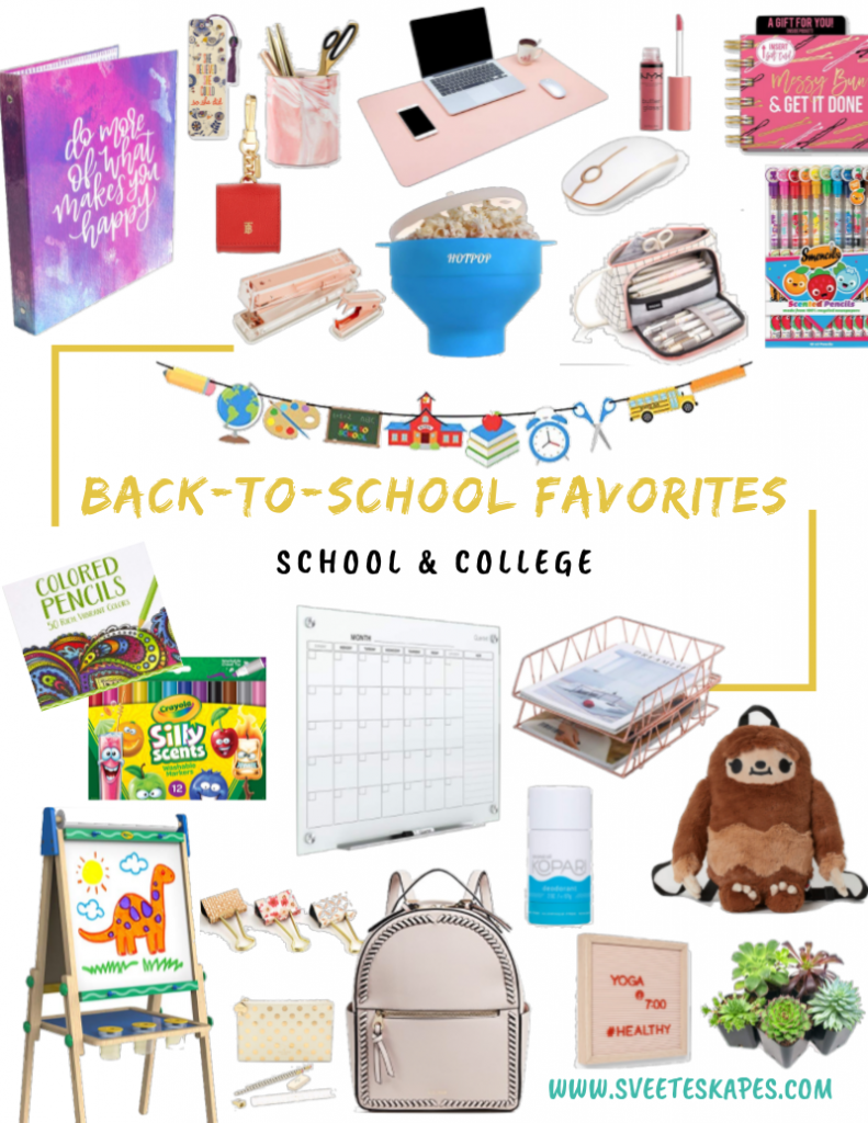 Back To School Essentials featured by top US life and style blog, Sveeteskapes
