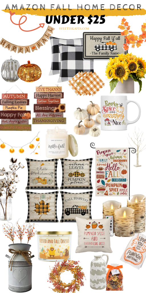 Best Fall Home Decor on Amazon under $25 featured by top US lifestyle blog, Sveeteskapes