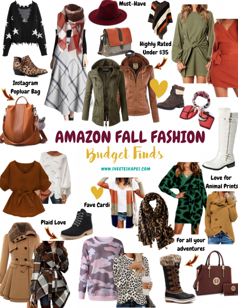 Amazon Fall Fashion on a Budget by top US life and style blog, Sveeteskapes