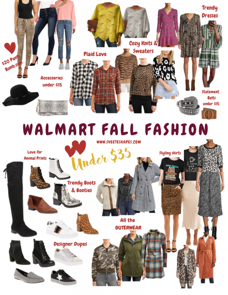 Walmart Fall Fashion top picks on a budget, featured by top US life and style blog, Sveeteskapes